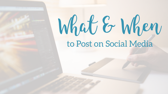 What and When to Post on Social Media